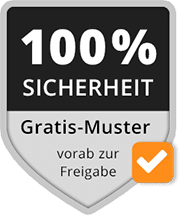 100 % Sicherheit Label Mousepad Gratismuster