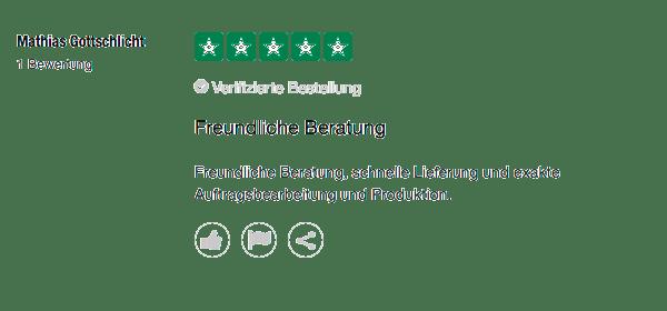 Freundliche Beratung 5 Sterne für Mr. Mousepad