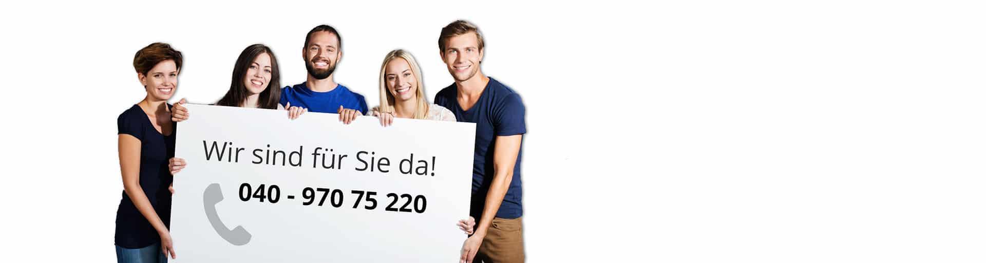 Kontaktformular Mr. Mousepad Service Team wir beraten Sie unter 040 970 75 220
