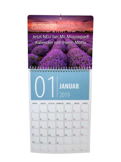 Kalender und Mousepad im 2-er Set