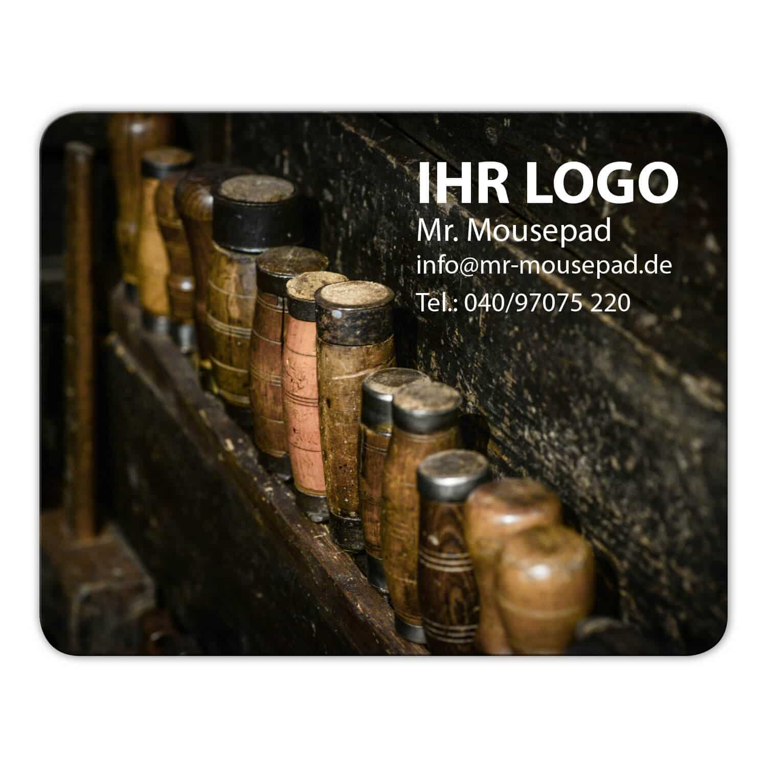 Mousepad Handwerk Design Logo Druck Mr. Mousepad